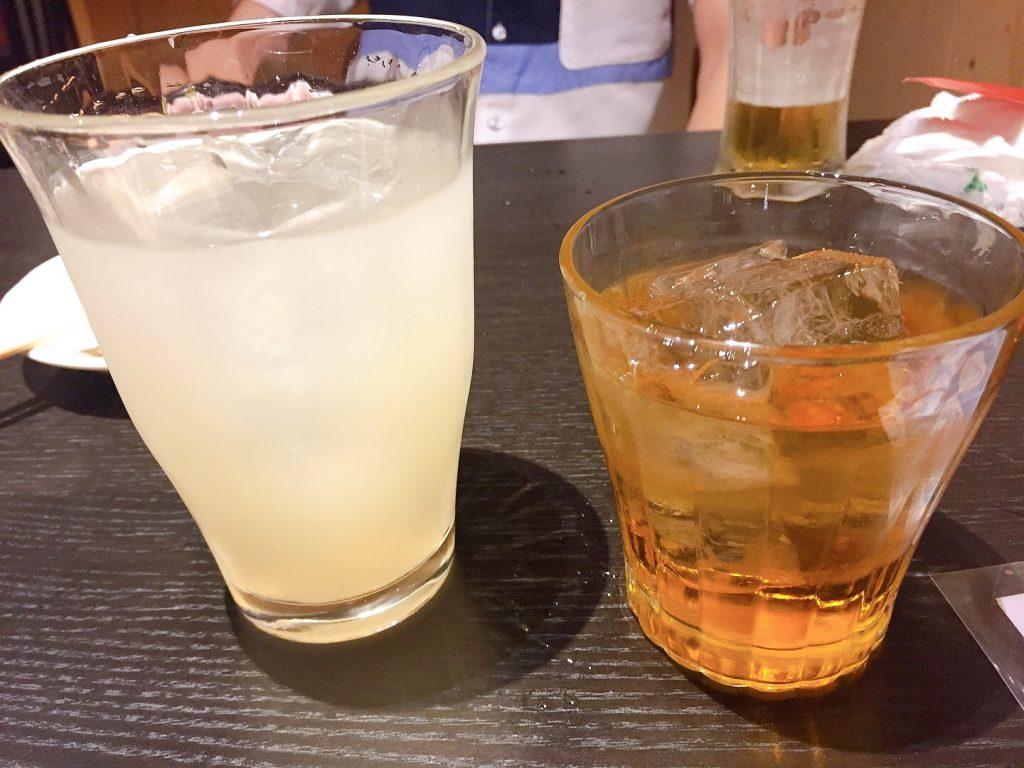 ジャスミン梅酒とバナナ梅酒ソーダ