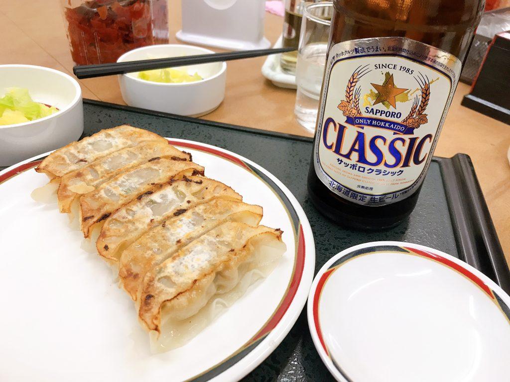 ビールと餃子のセット